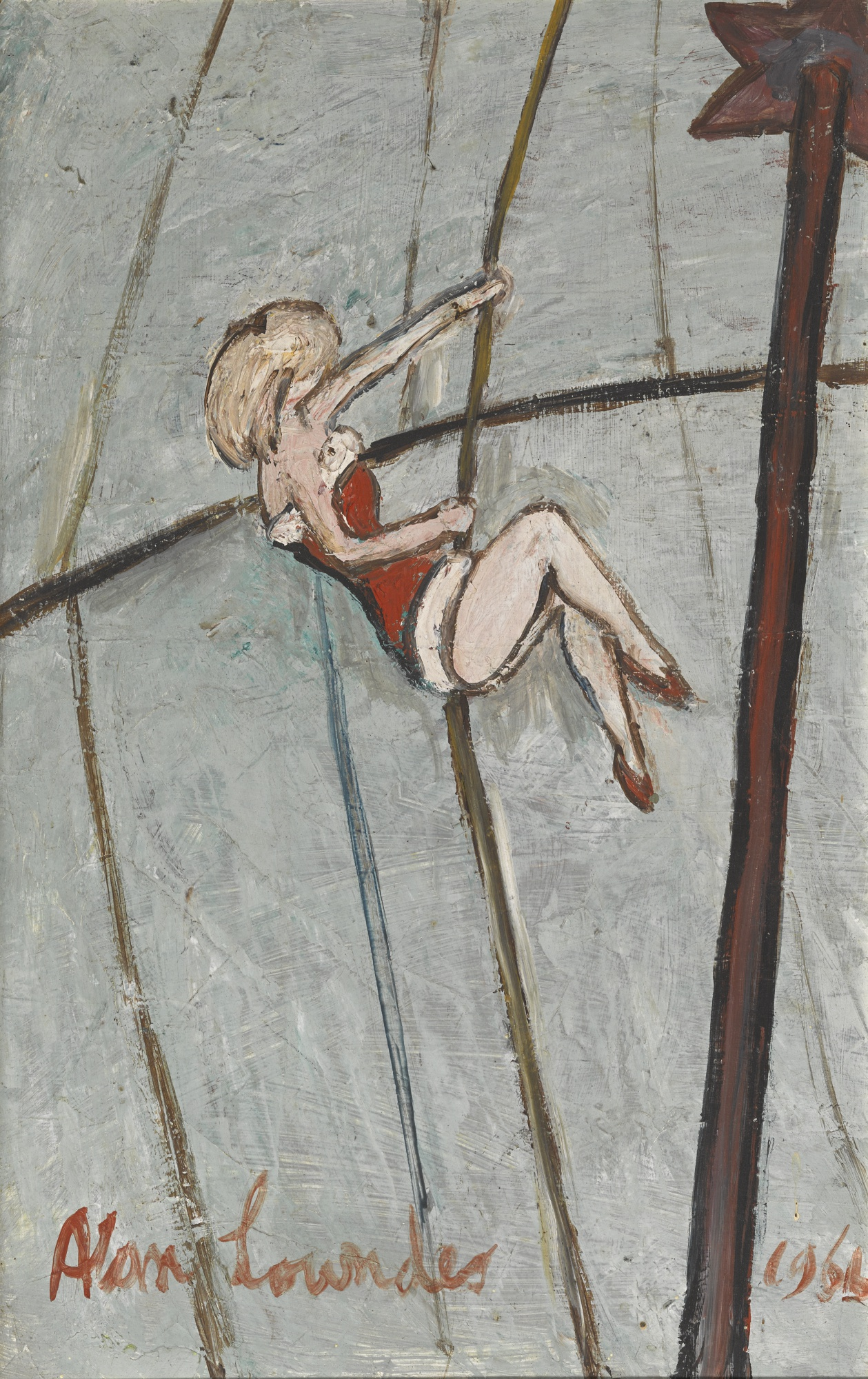 Alan Lowndes-Girl Rope Climber-1966