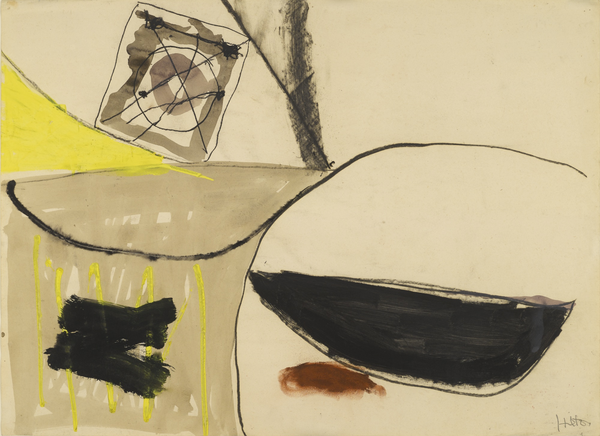 Roger Hilton-Abstract With Target-