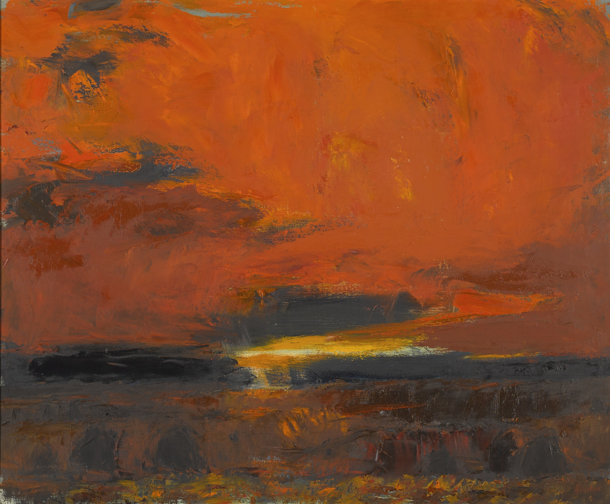 John Houston-Stormy Sunset At Lewis-