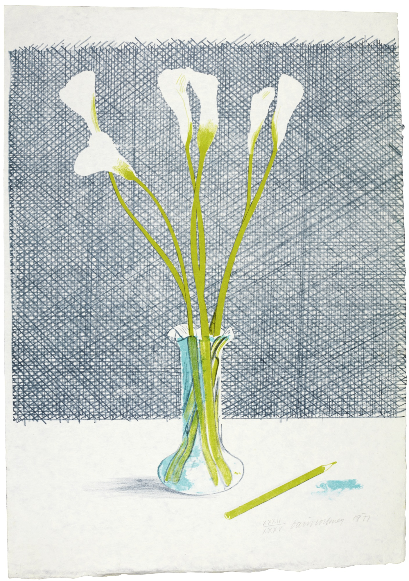 David Hockney-Lillies (Scottish Arts Council 118)-1971