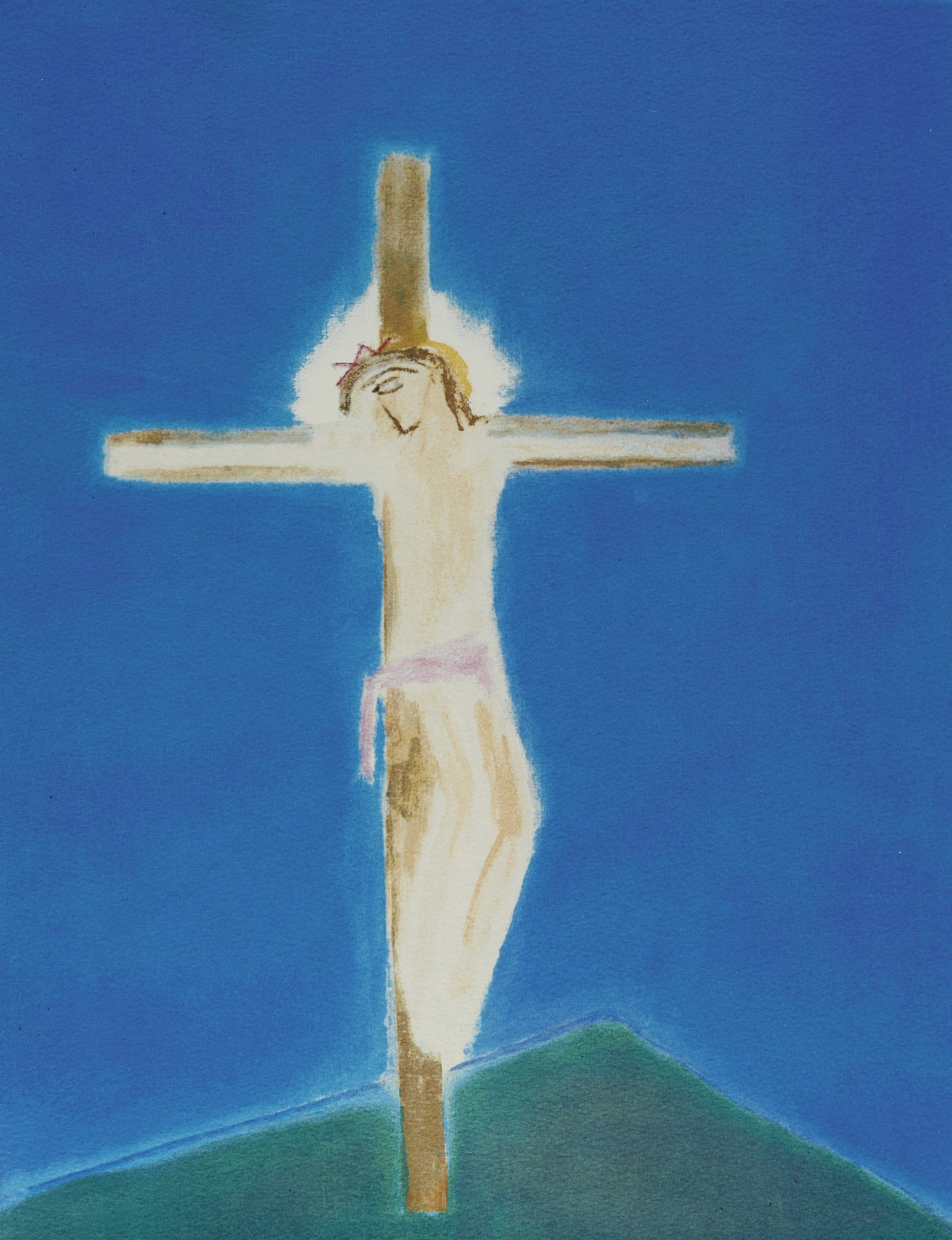Craigie Aitchison-Crucifixion Green Hill-2004