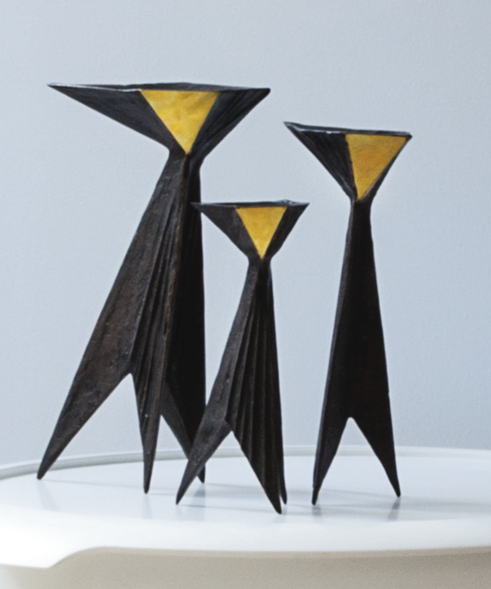 Lynn Chadwick-Set Of Three Candlesticks-1983