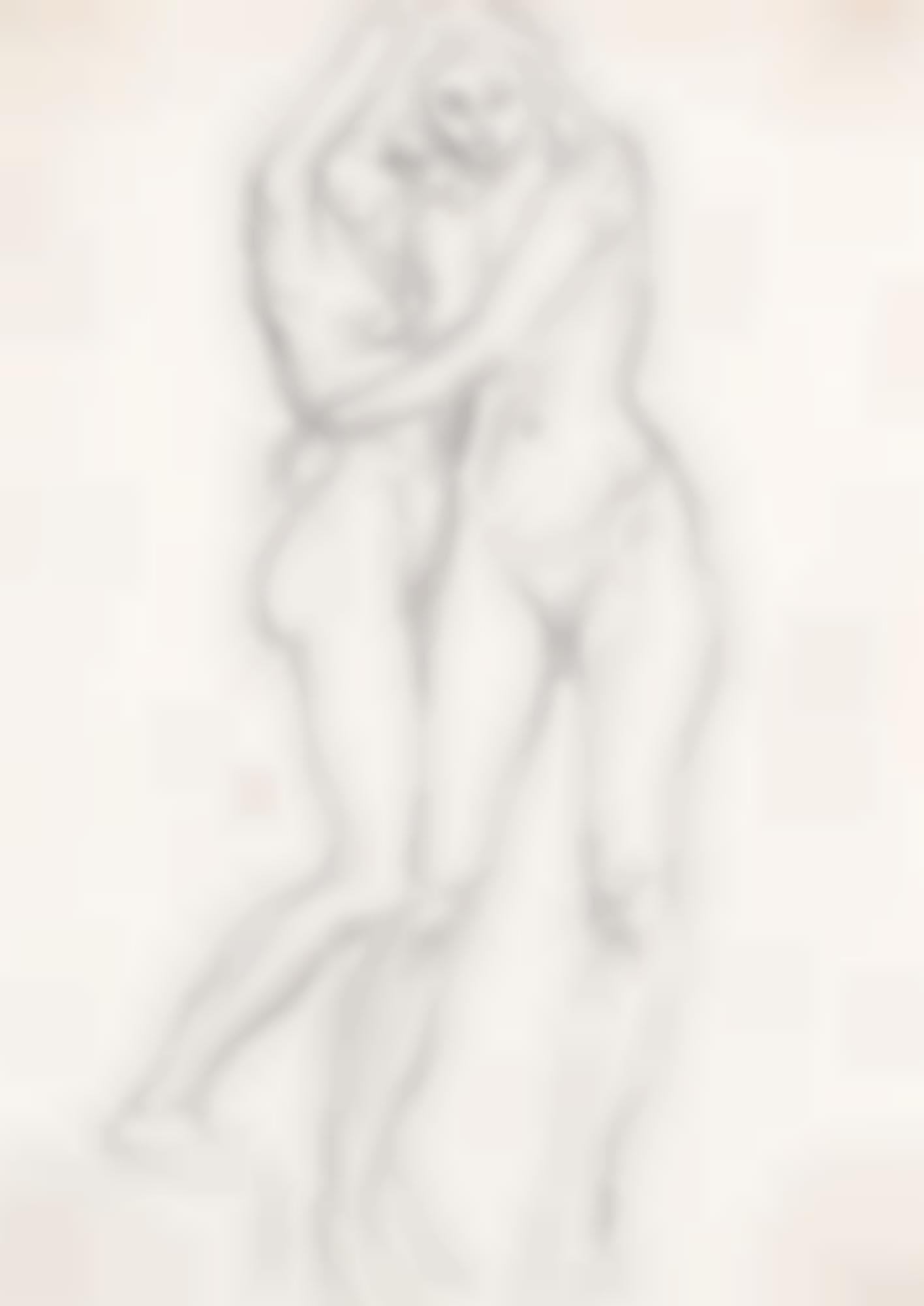 Augustus Edwin John-Two Nudes-