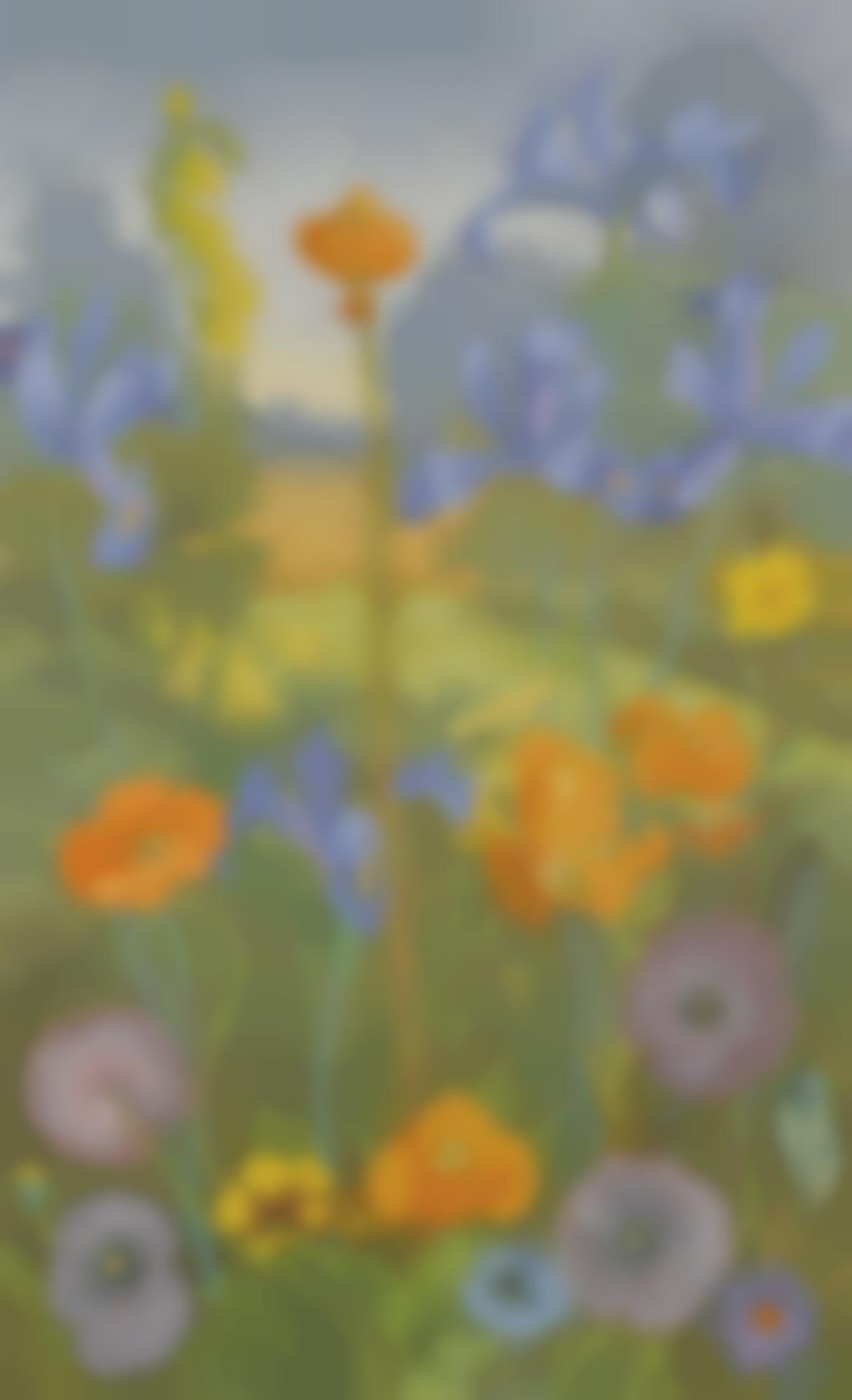 Cedric Morris-Poppies, Cornflowers, Snap-Dragons, Irises And Lilies-1965
