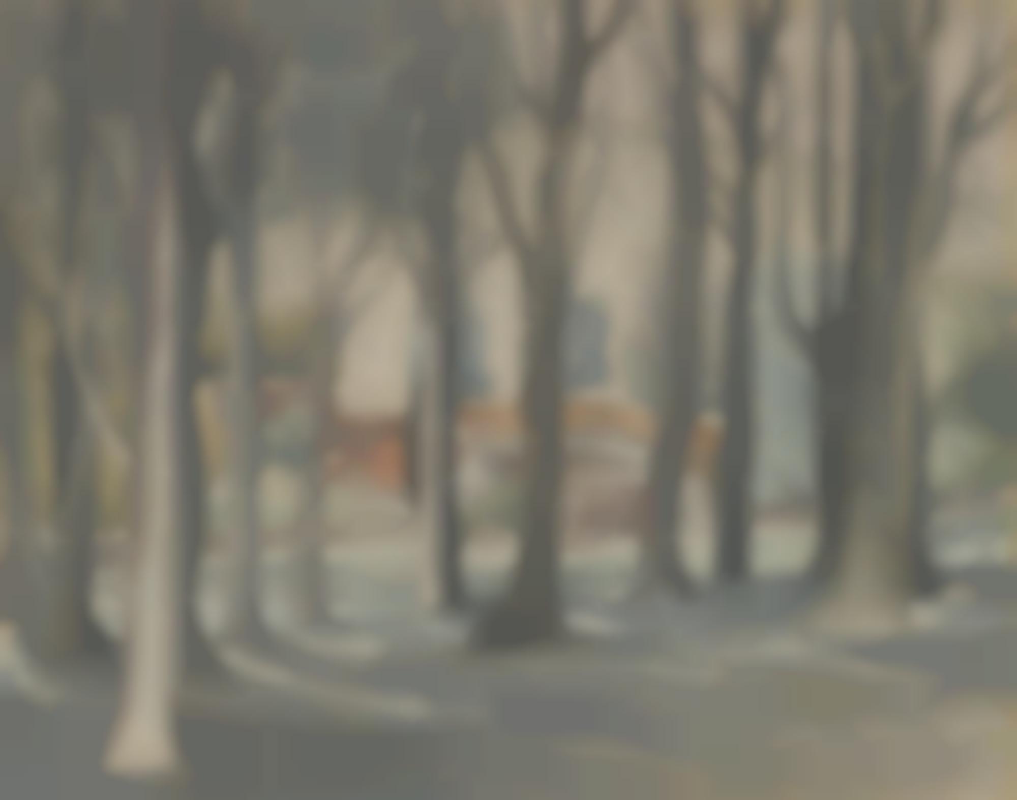 John Nash-Farm Through Trees-1923