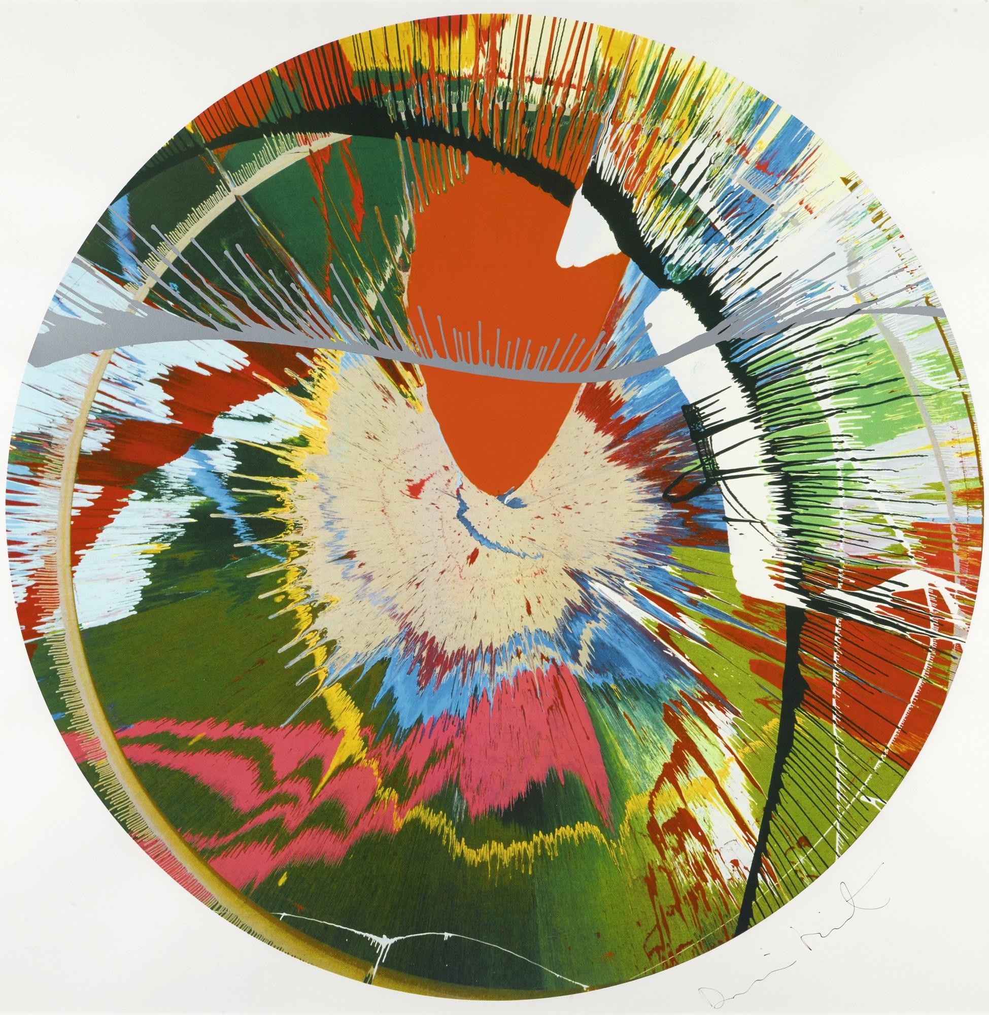 Damien Hirst-Beautiful, Galactic, Exploding Screenprint (Spin)-2001
