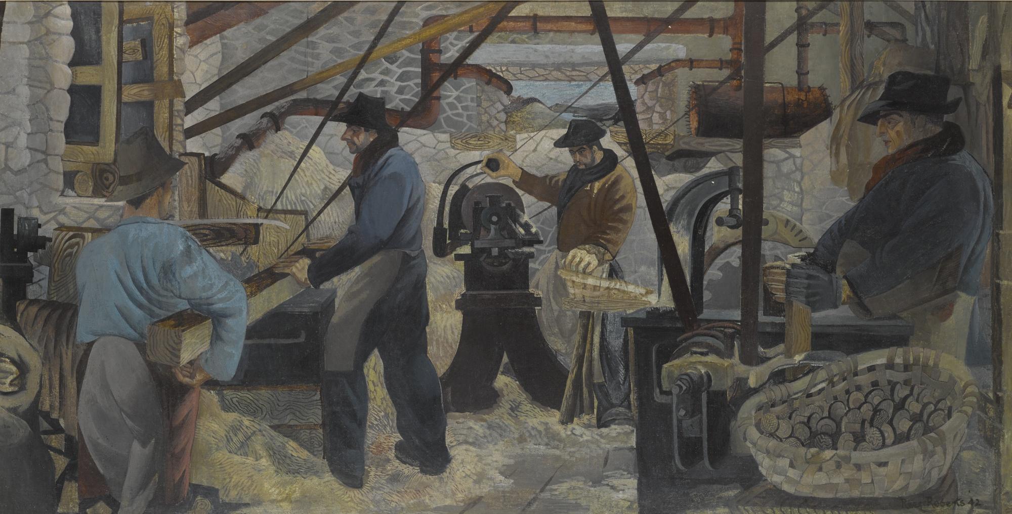 Peter Rees Roberts-The Bobbin Mill Ambleside II-1942
