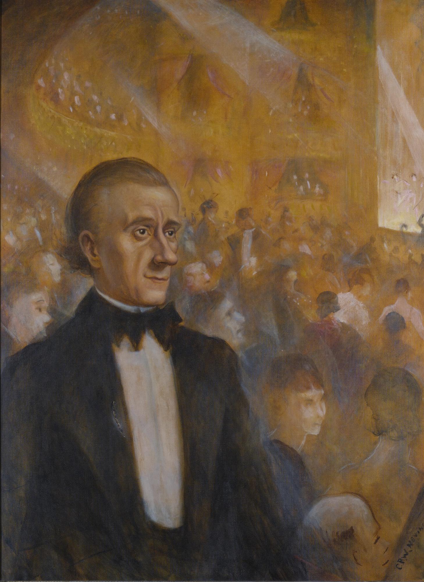 Christopher R. W. Nevinson-Portrait Of Hannen Swaffer-1938