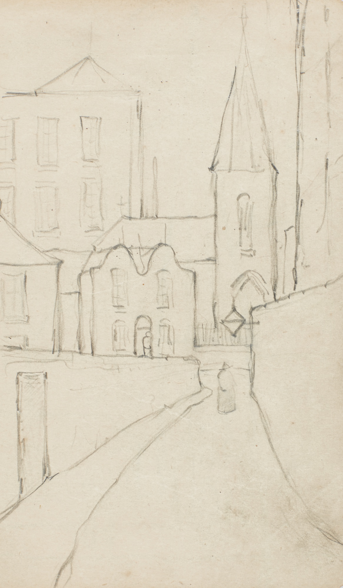 Laurence Stephen Lowry-Sketchbook Containing Six Leaves-