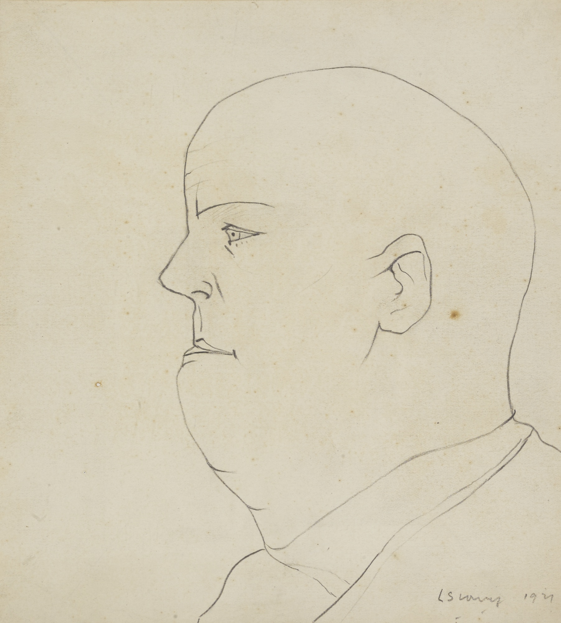 Laurence Stephen Lowry-Portrait Of A Man-1921