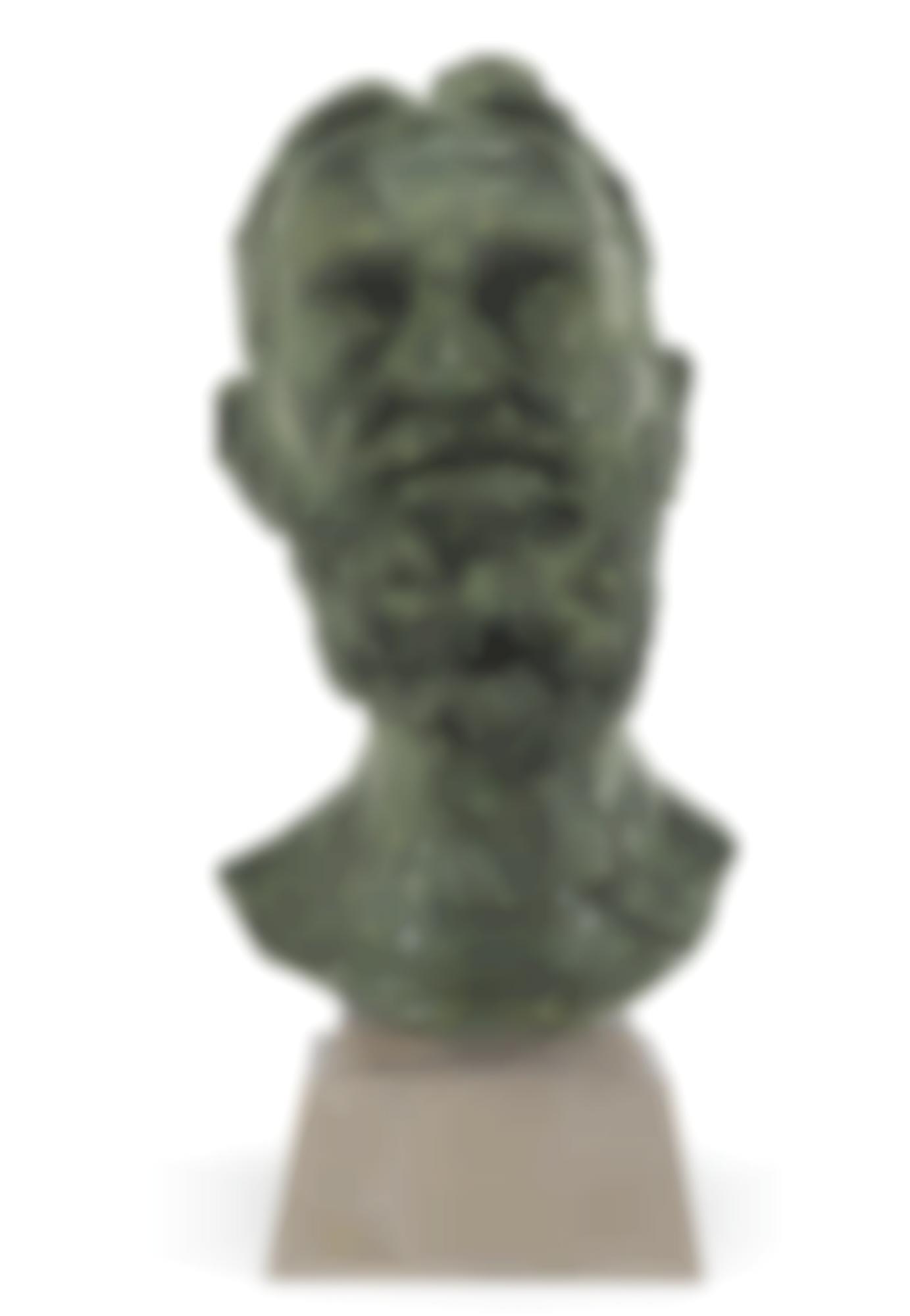 Jacob Epstein-Second Portrait Of George Bernard Shaw (Head)-1934