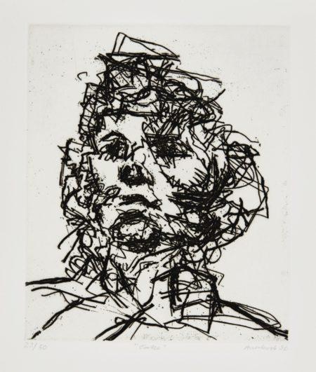 Frank Auerbach-Seven Portraits: Julia; David; Catherine; J.Y.M.; Michael; Geoffrey; And Jake (Malborough Graphics 15-21)-1990