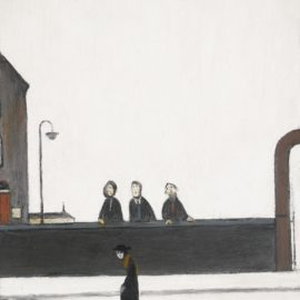 Laurence Stephen Lowry-The Lookers On-1965