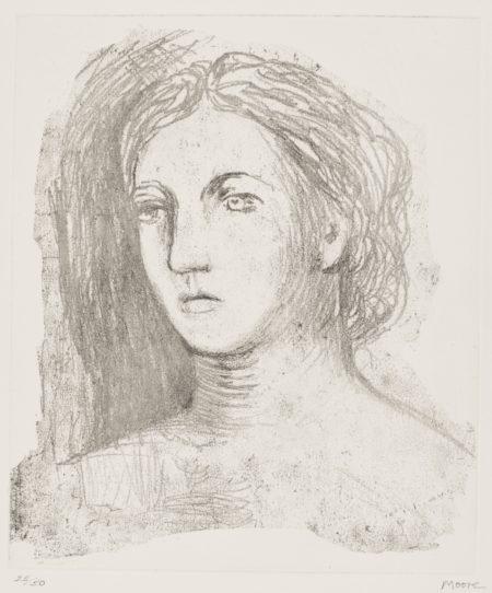 Henry Moore-Head Of Woman (Cramer 603)-1981