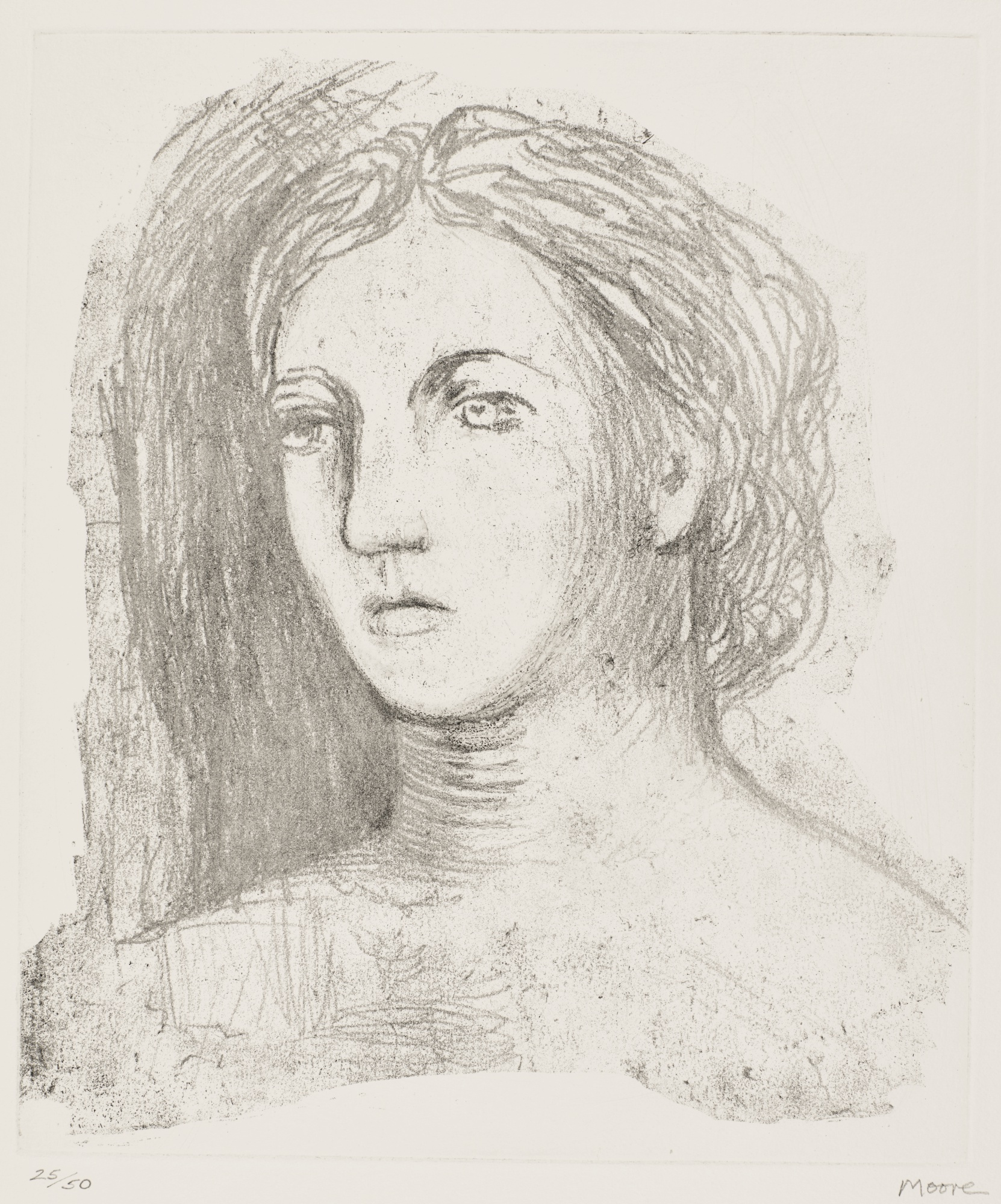 Henry Moore-Head Of Woman (Cramer 603)-1981