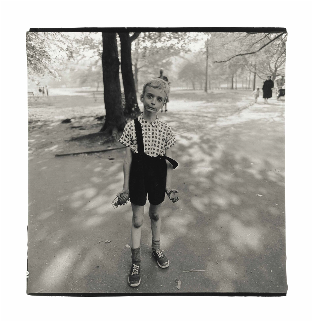 Diane Arbus-Child With A Toy Hand Grenade In Central Park, N.Y.C.-1962