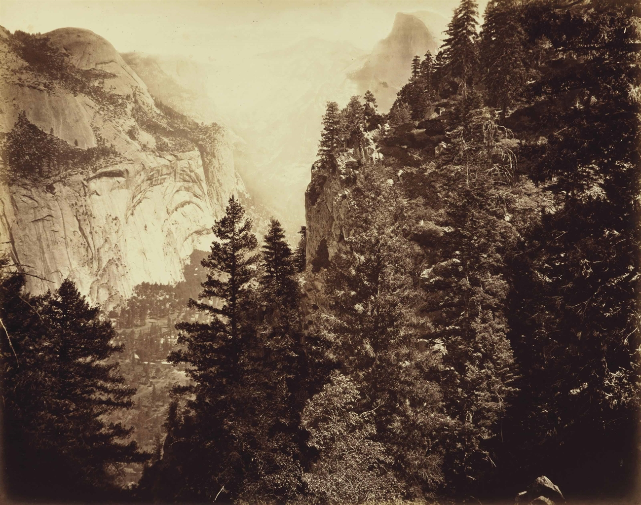 Eadweard Muybridge-Tenaya Canyon: Valley Of The Yosemite-1872