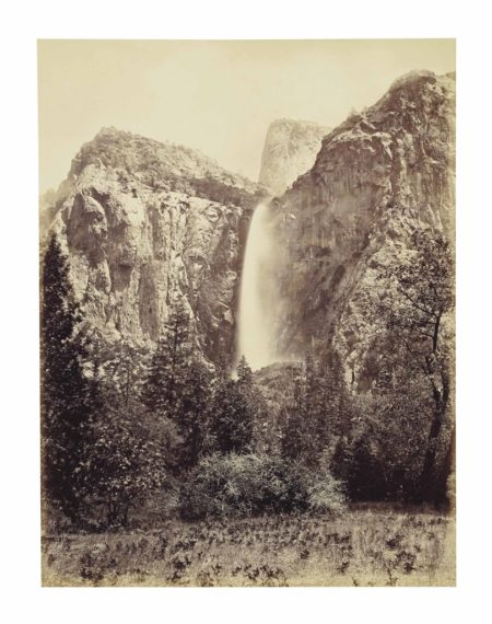 Carleton E. Watkins-Bridalveil Fall, Yosemite-1866