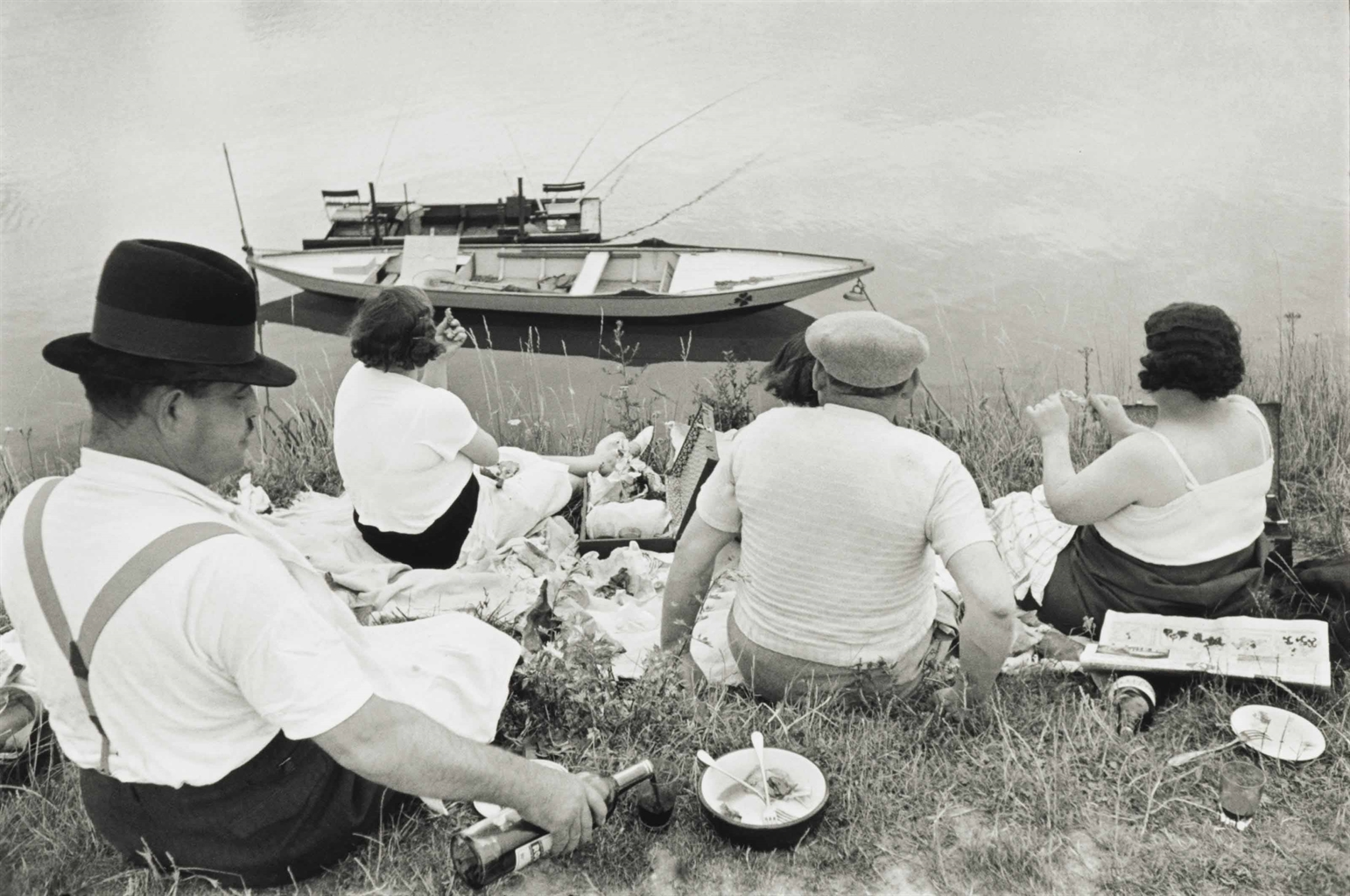 Henri Cartier-Bresson-On The Banks Of The Marne, France-1938