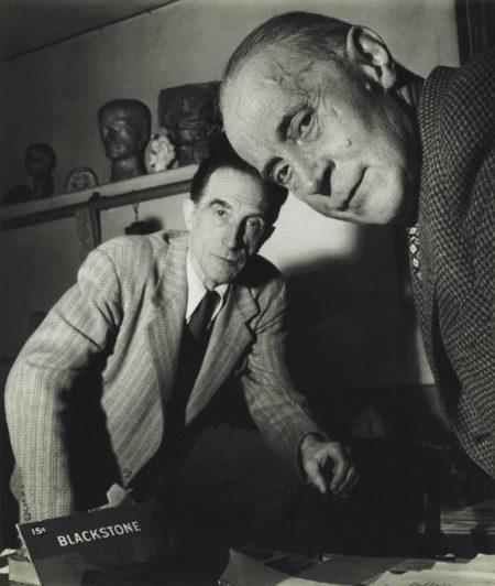 Robert Doisneau-Jacques Villon And Marcel Duchamp, November-1950