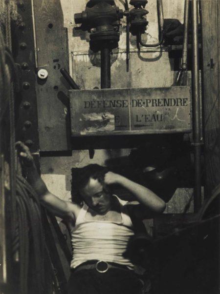 Brassai-Sleeping Machinist At The Folies-Bergere, Paris-1933
