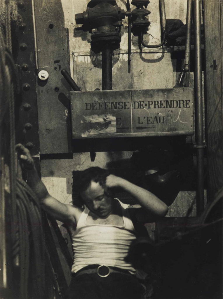 Brassai-Sleeping Machinist At The Folies-Bergere, Paris-1933