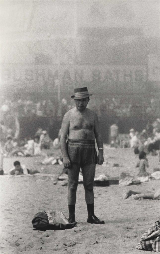 Diane Arbus-Man In Hat, Trunks, Socks And Shoes, Coney Island, N.Y.-1960