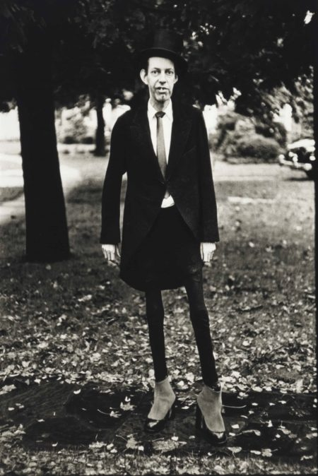 Diane Arbus-A Very Thin Man In Central Park, N.Y.C.-1961