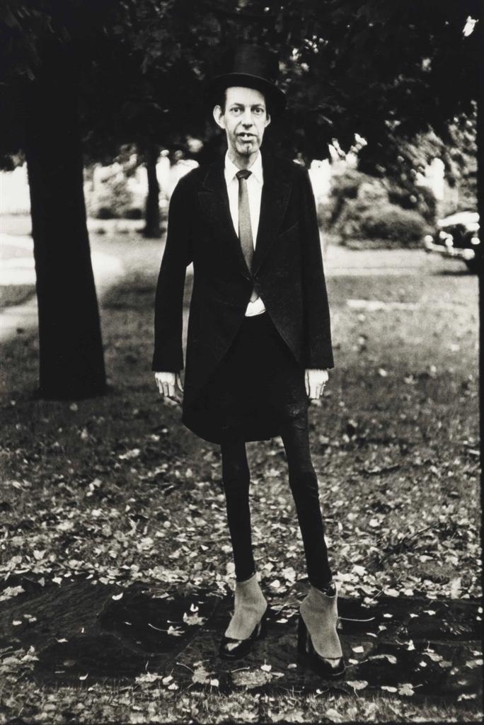 Diane Arbus-A Very Thin Man In Central Park, N.Y.C.-1961