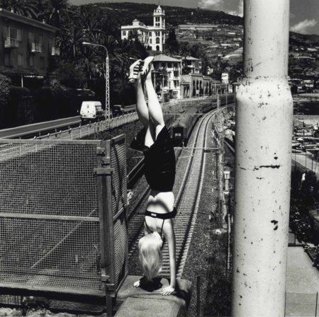 Helmut Newton-Dangerous Legs, Woman Doing Handstand, Bordighera-1996