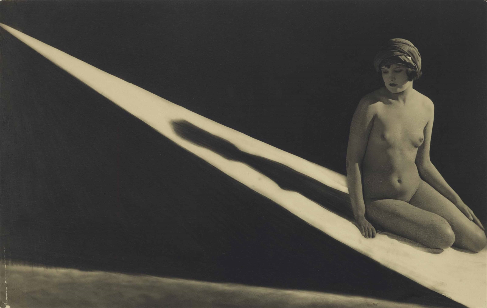 Frantisek Drtikol-Untitled (Nude With Shadow)-1926
