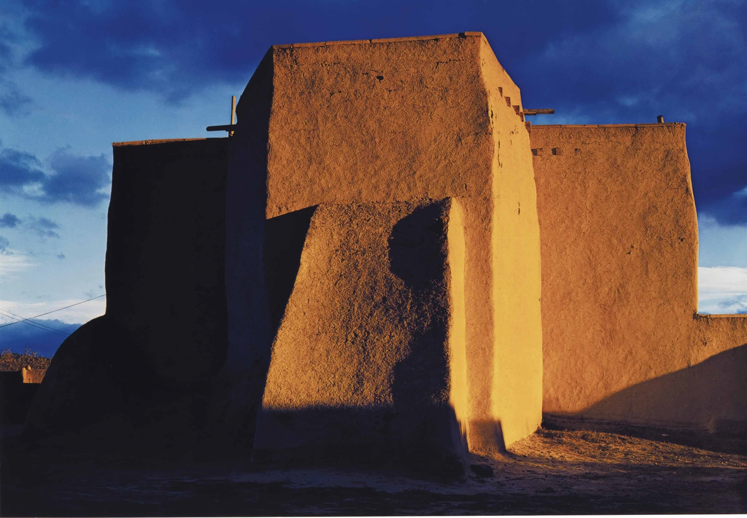 Ansel Adams-Church, Sunset, Rear, Ranchos De Taos, New Mexico-1948