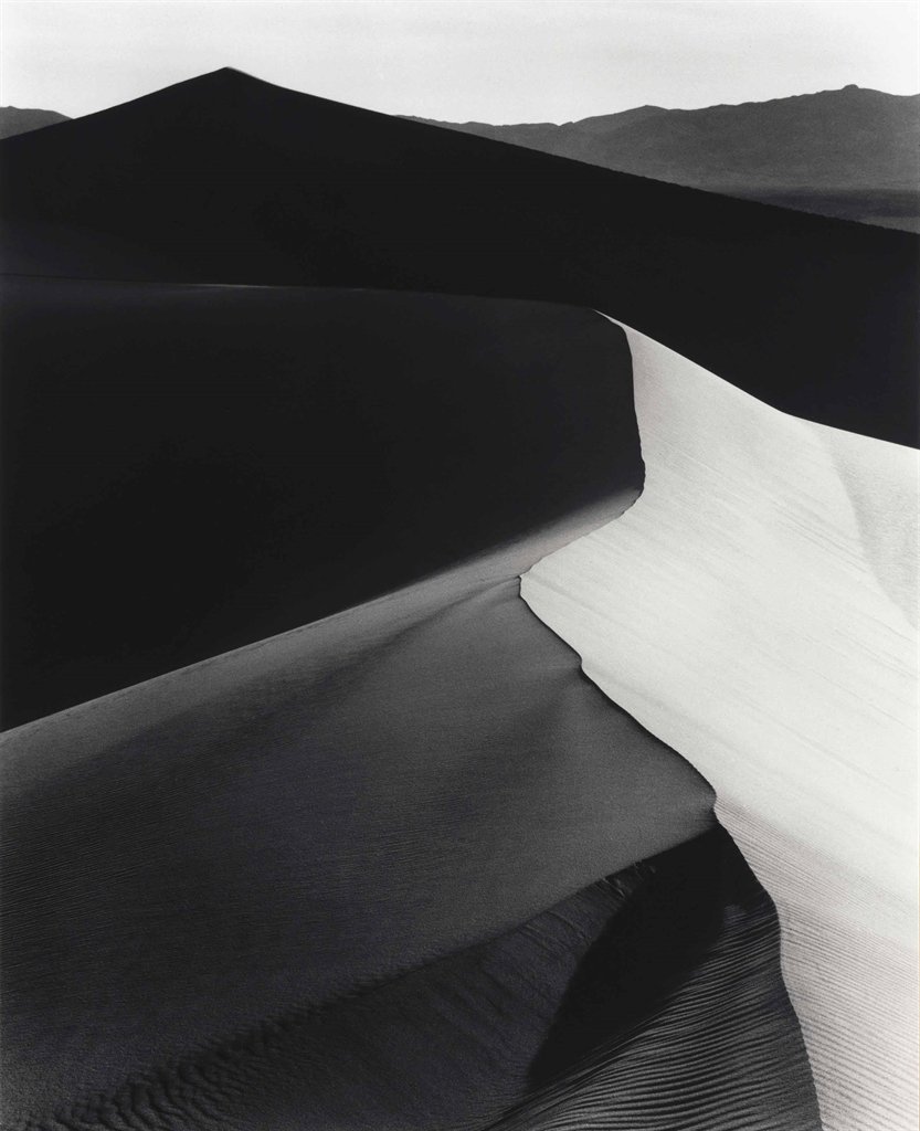 Ansel Adams-Sand Dunes, Sunrise, Death Valley National Monument, California-1948