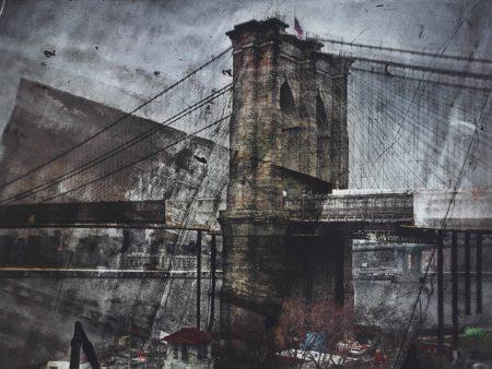 Abelardo Morell-Tent–Camera Image On Ground: Rooftop View Of The Brooklyn Bridge–Brooklyn Side-2011