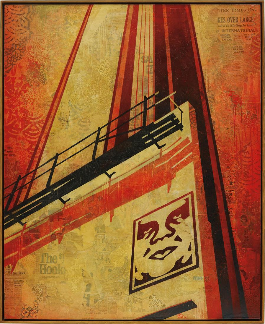 Shepard Fairey-Sunset & Vine Billboard-2011