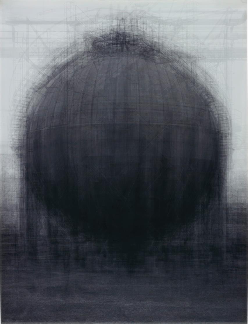 Idris Khan-Every ... Bernd & Hilla Becher Spherical Type Gas Holders-2004