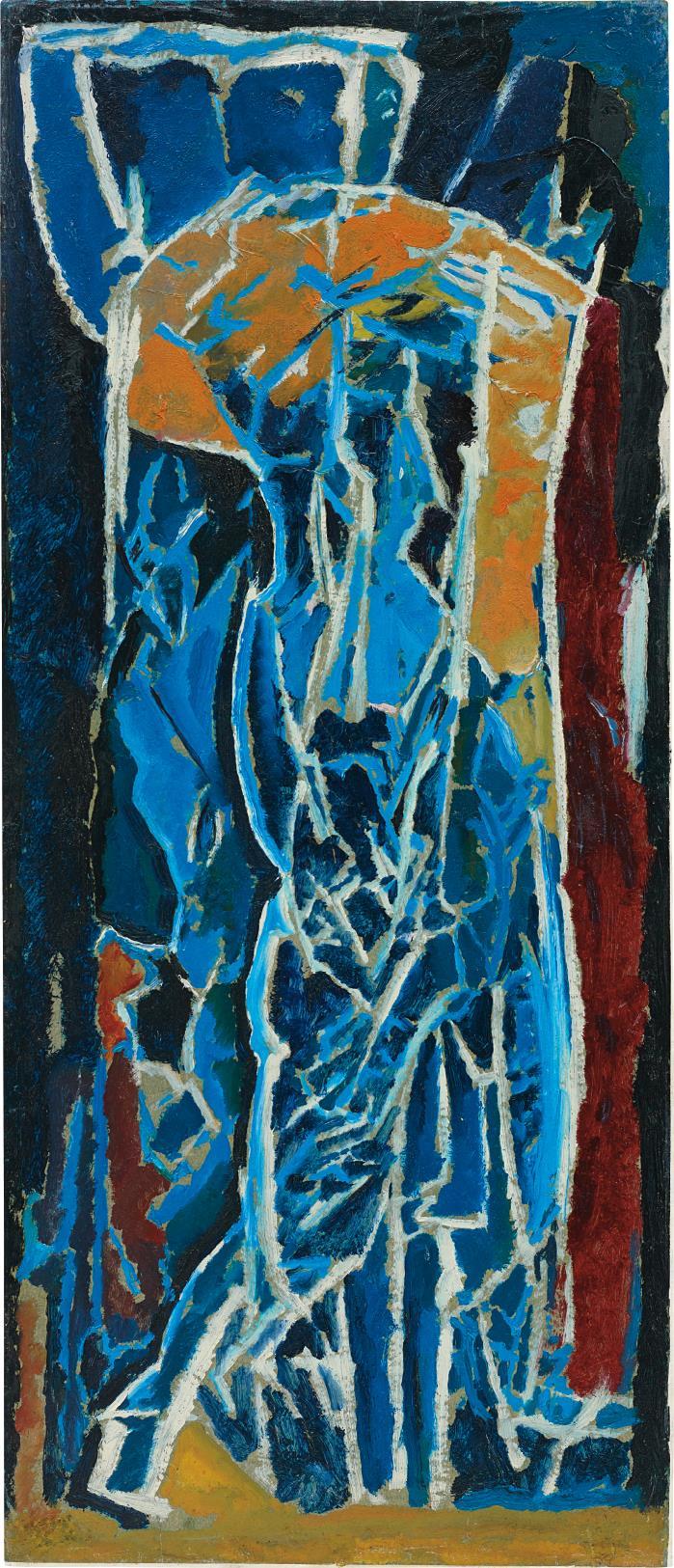 David Bomberg-Figure Composition (Stable Interior Series)-1919