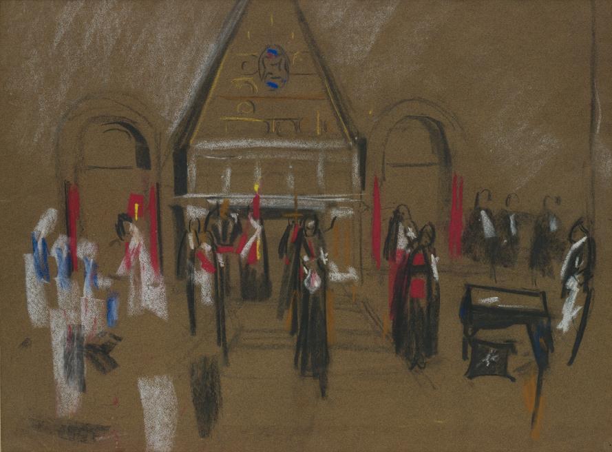 David Bomberg-Armenian Church, Jerusalem-1923