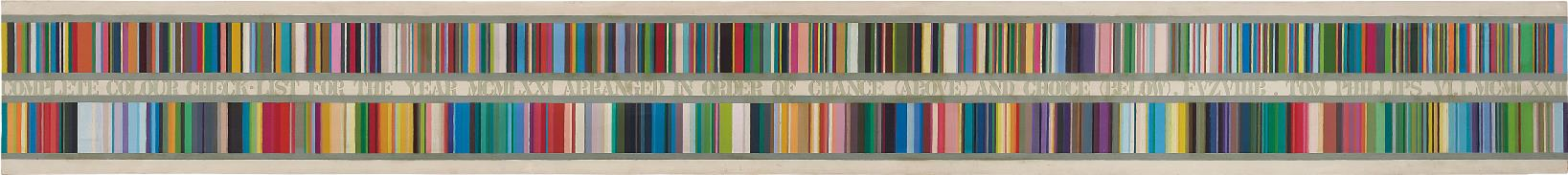 Tom Phillips-Complete Colour Check For The Year Mcmlxxi Arranged In Order Of Change (Above) And Choice (Below)-1971