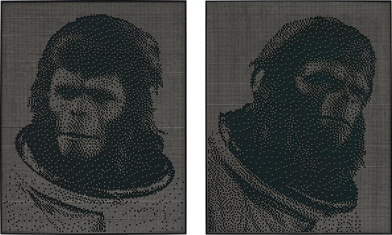 Joe Black-Two Works: (I) Ape 02 (II) Ape 03-2008