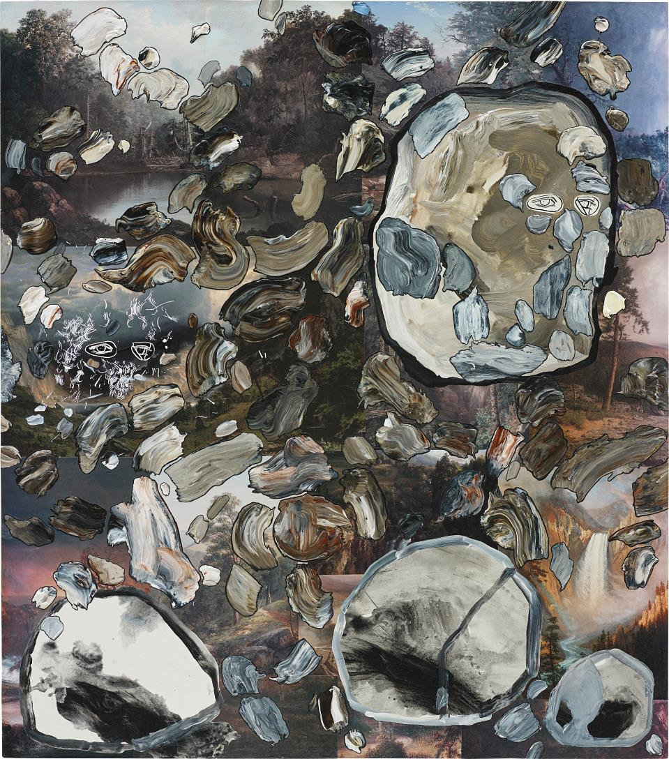 Carter-Three Portraits, Three Rocks, And One-Hundred And Thirty-One Abstract Paintings On Fifteen Landscapes-2007