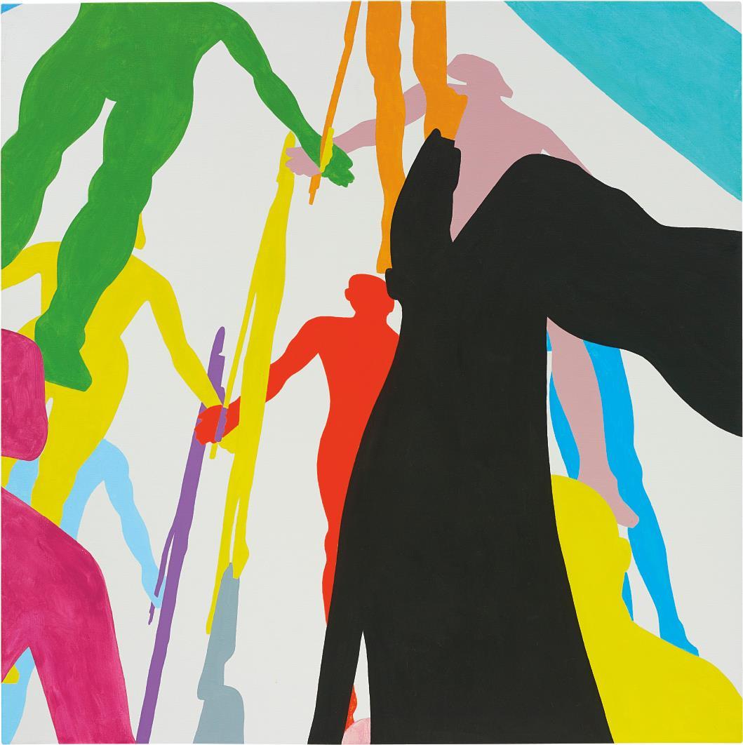 Jonathan Borofsky-Human Structures Painting Study #7-2009