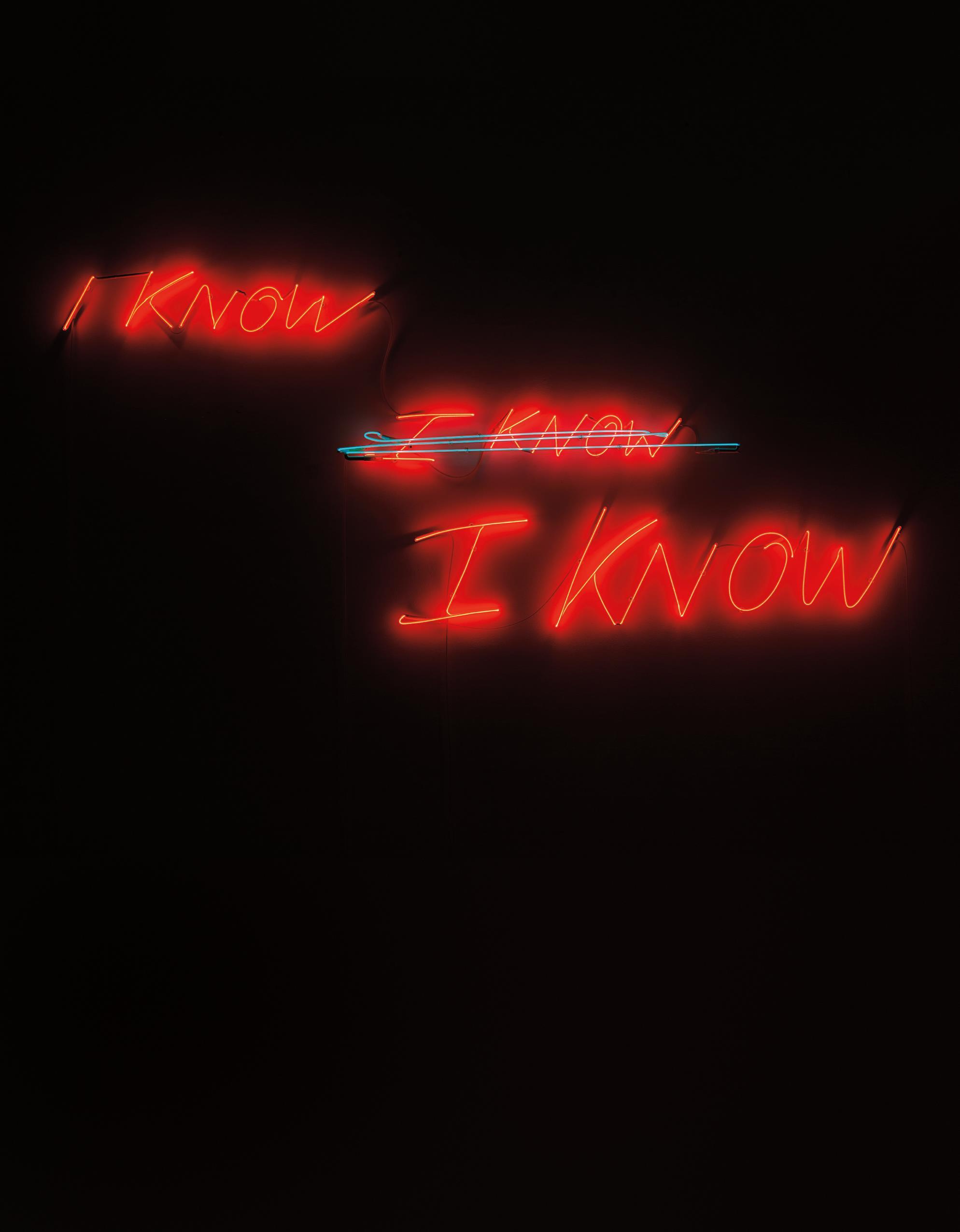 Tracey Emin-I Know, I Know, I Know-2002