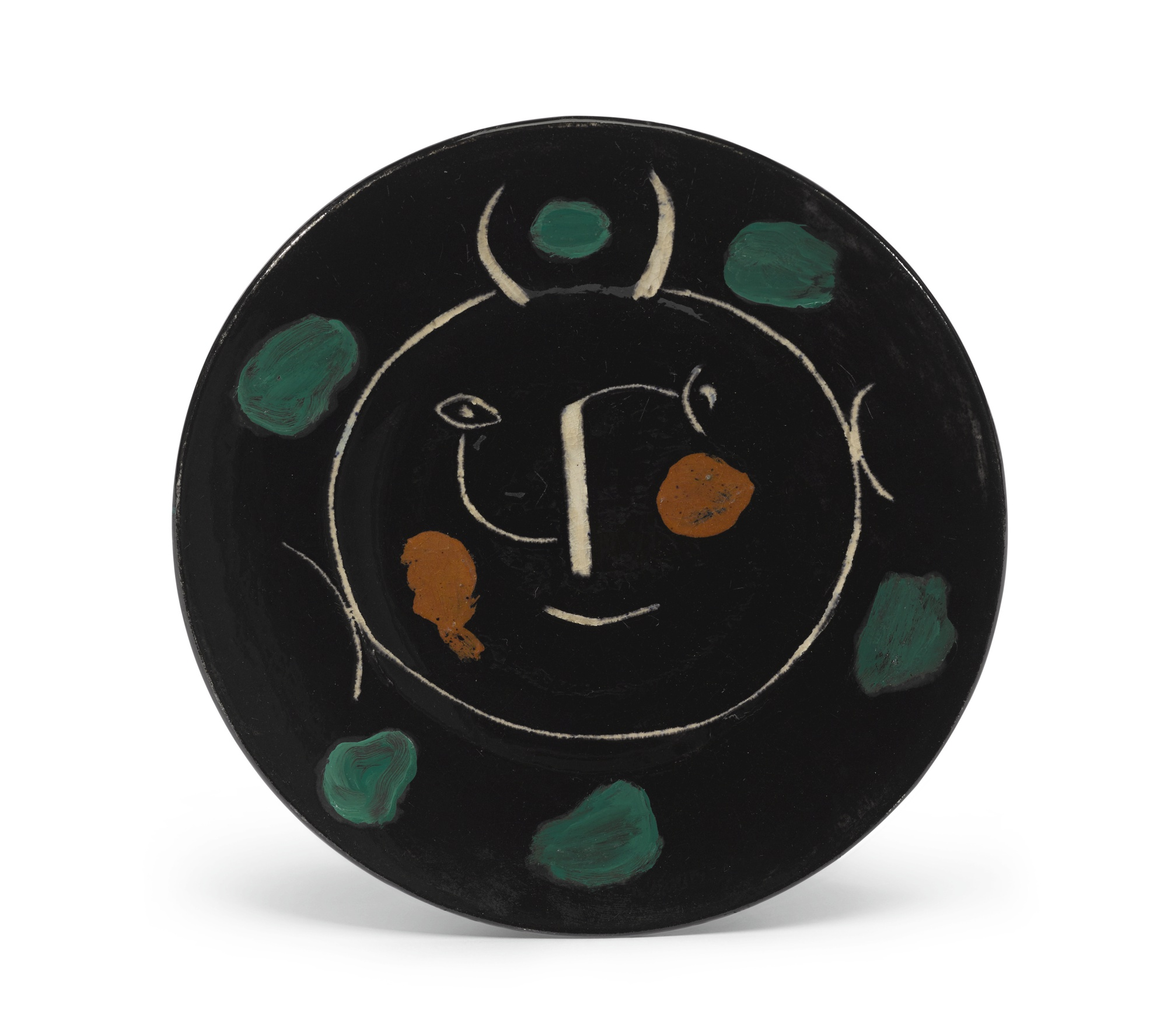 Pablo Picasso-Service Visage Noir (A. R. 40)-1948