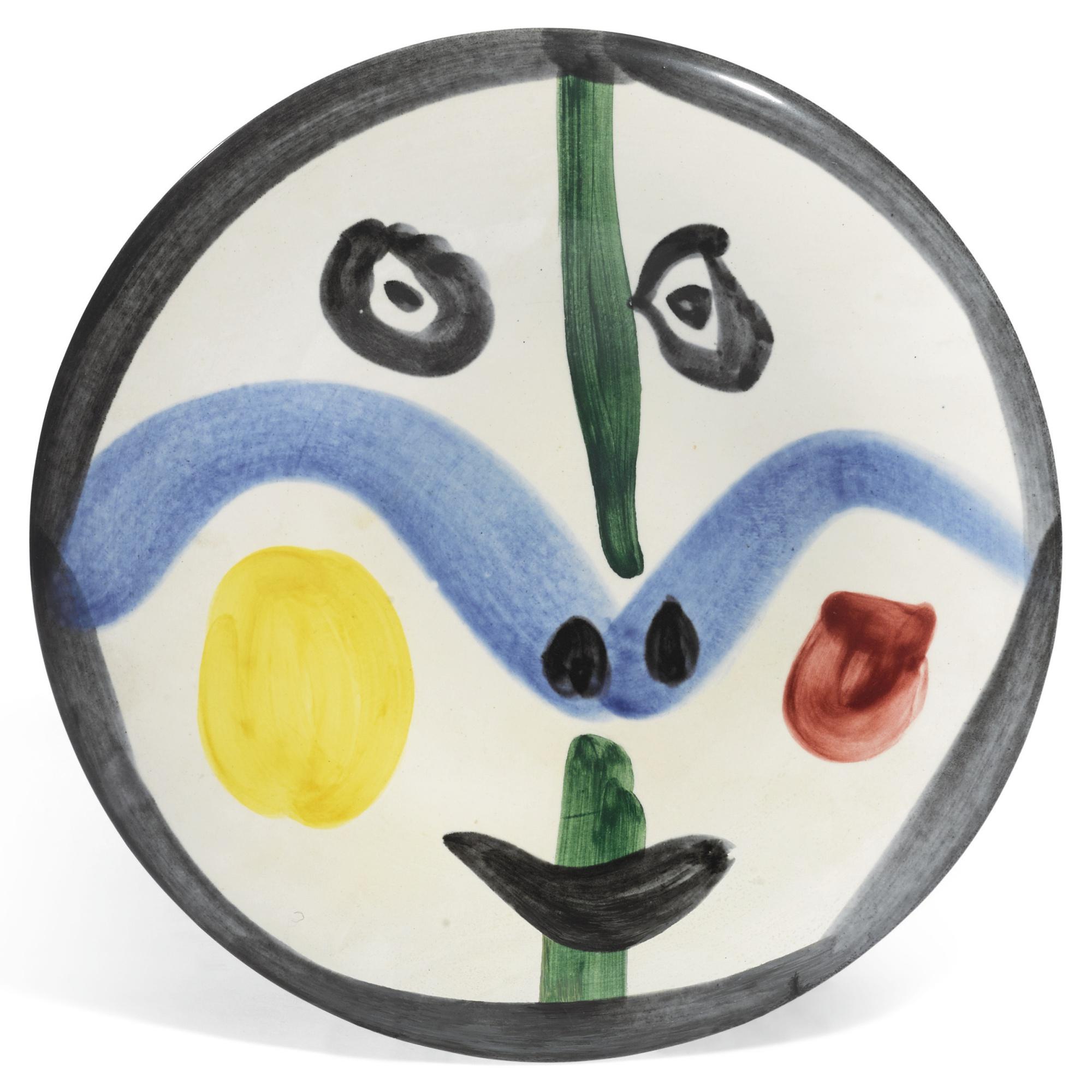 Pablo Picasso-Visage No. 0 (A. R. 458)-1963