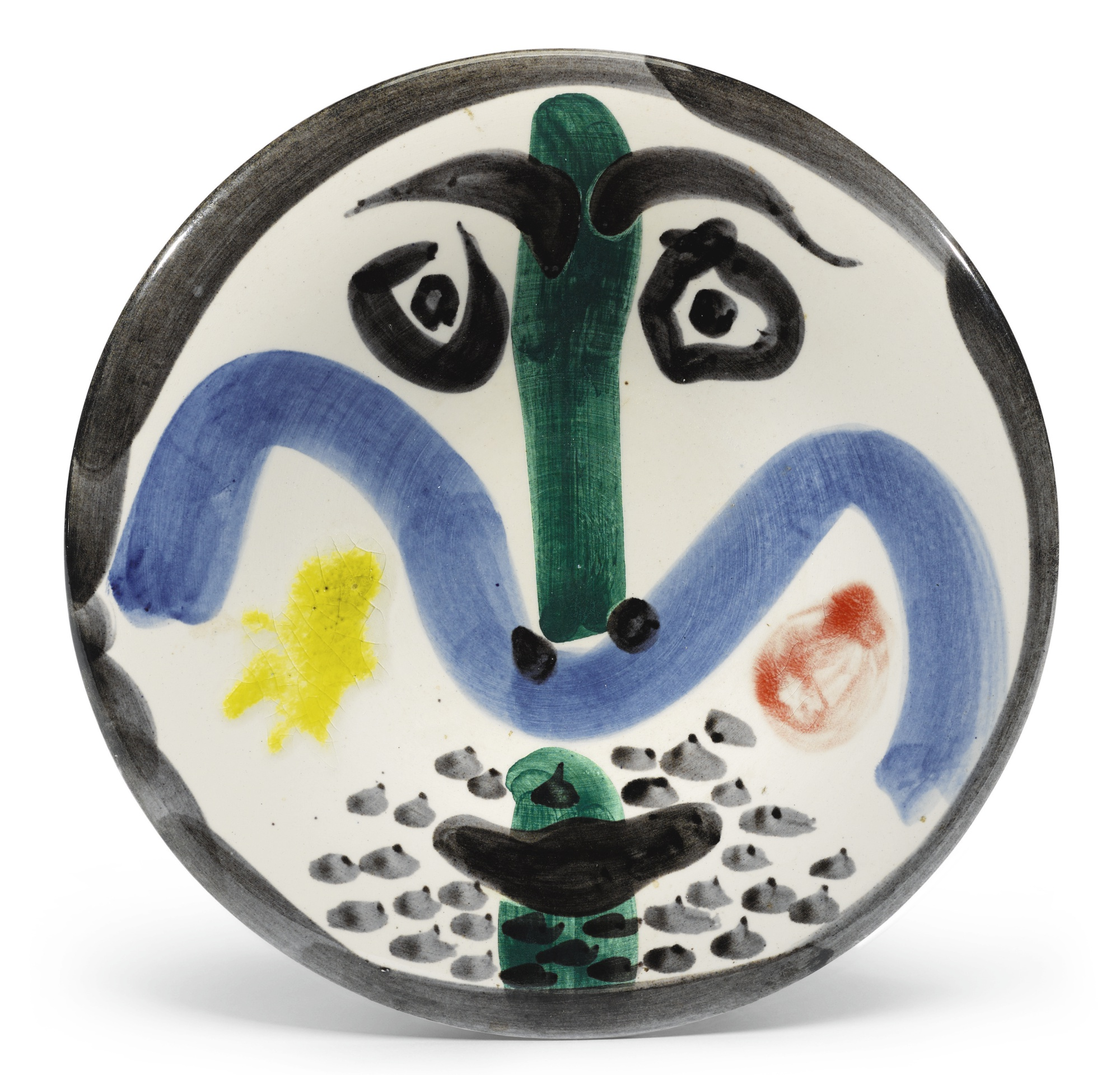 Pablo Picasso-Visage No. 130 (A. R. 479)-1963