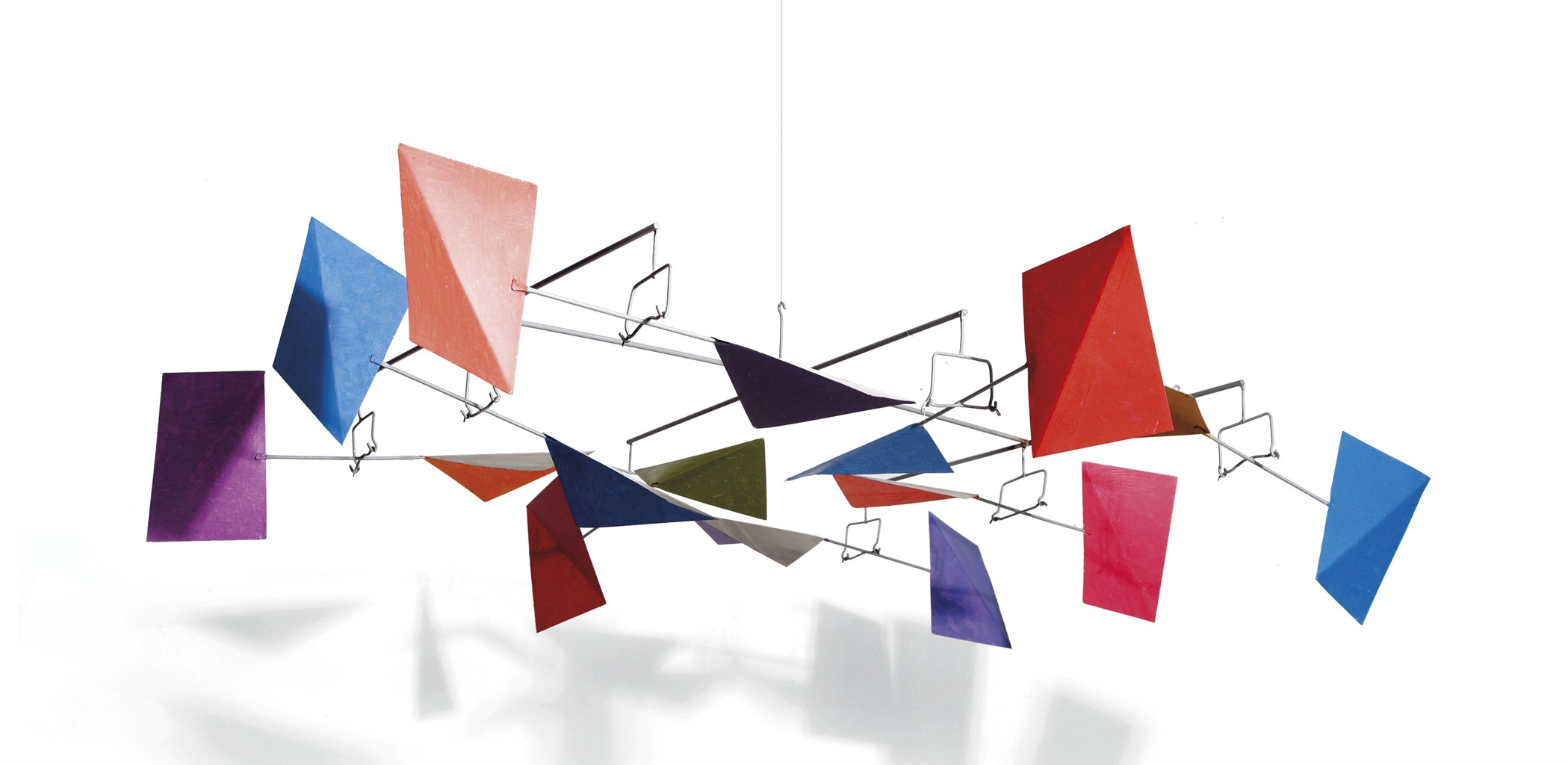 George Rickey-Eight Rectangles Eight Squares Folded Hanging 1St Variation Ii-1994
