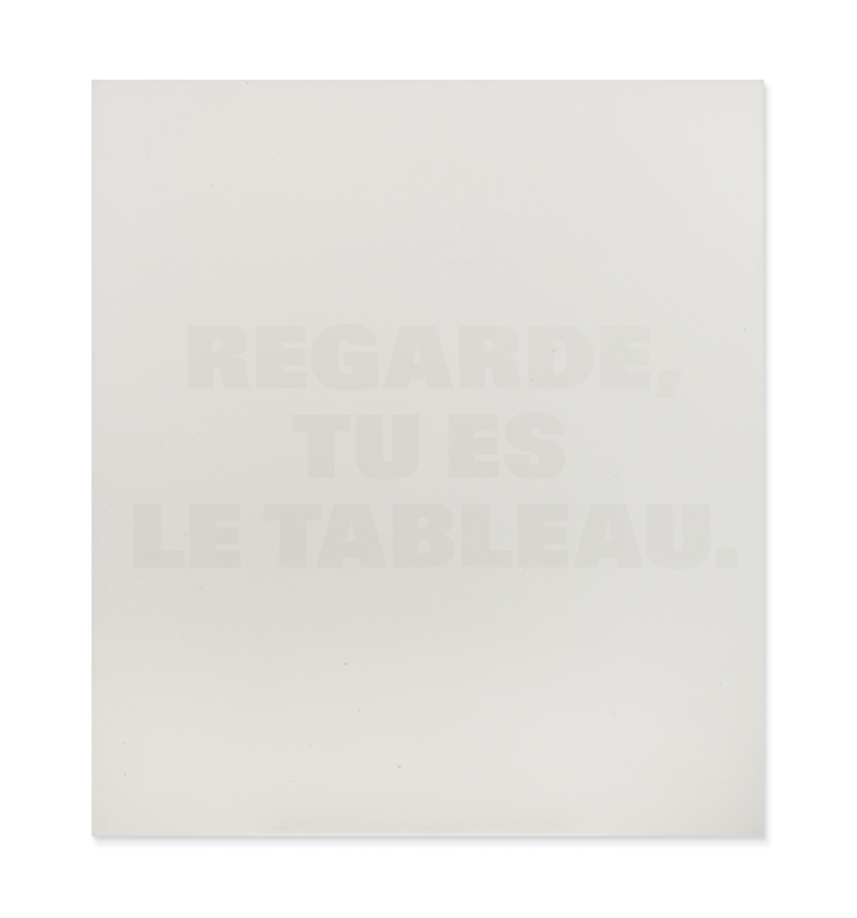 Remy Zaugg-Regarde, Tu Es Le Tableau (Look, You Are The Painting)-1991