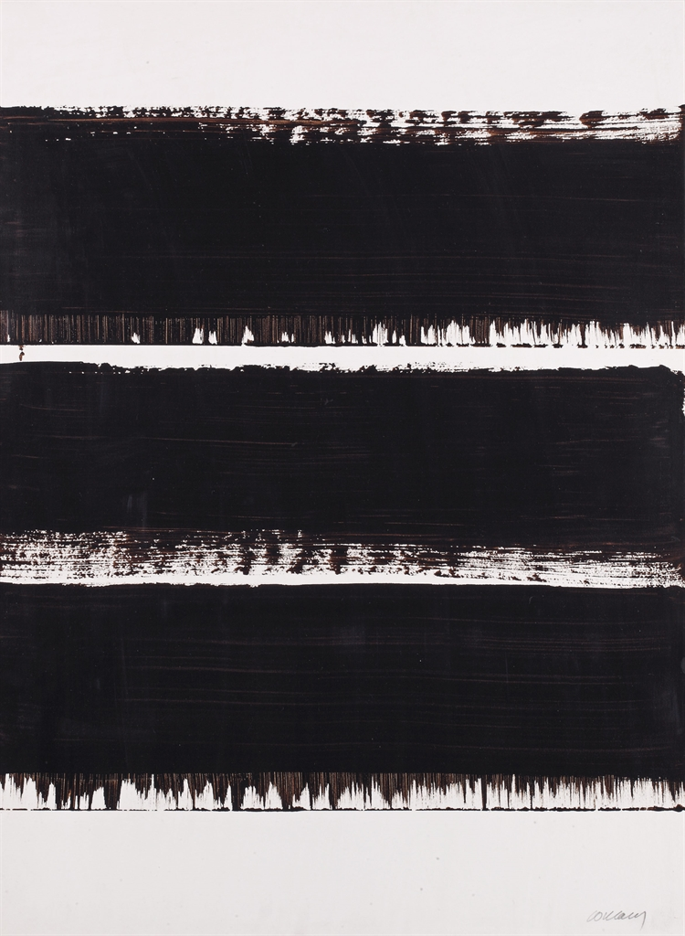 Pierre Soulages-Brou De Noix Sur Papier, 75 X 54 Cm, 1998-8-1998