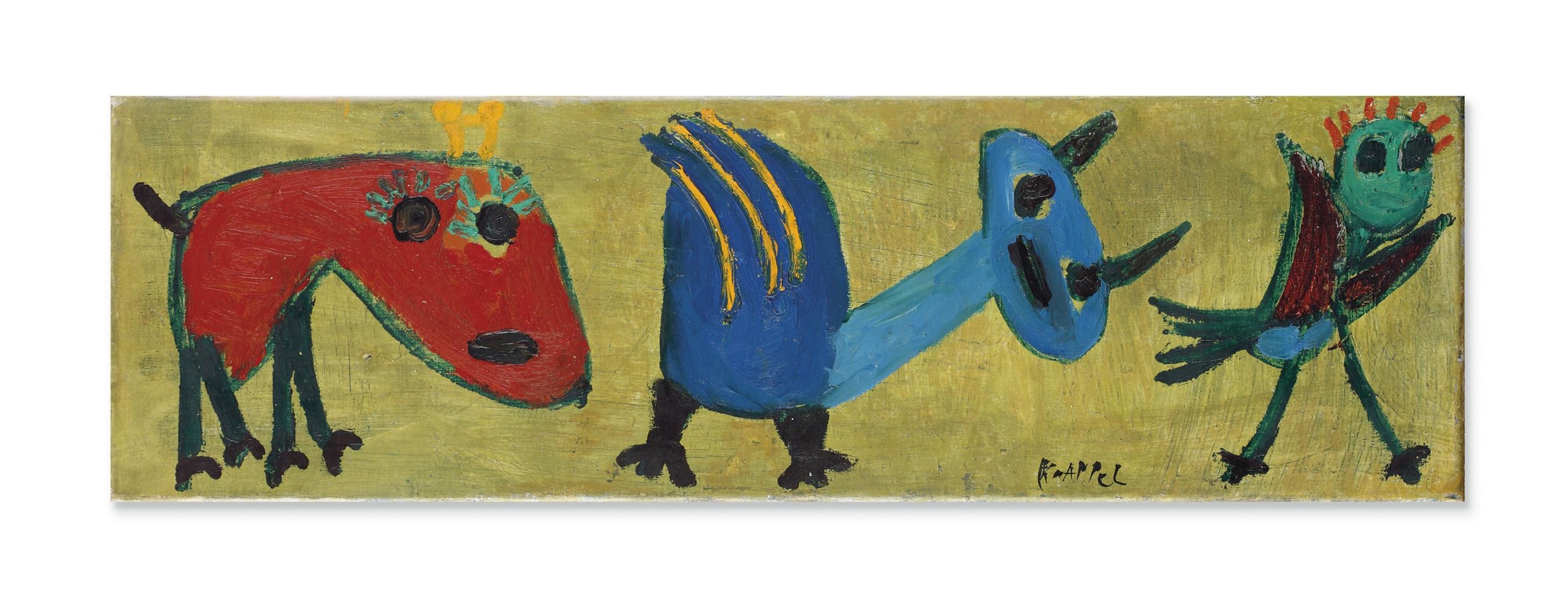 Karel Appel-Untitled (Kinderschilderij) (Childs Painting)-1951